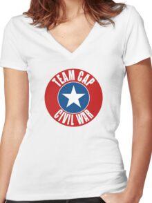 Team Cap Women's Fitted V-Neck T-Shirt