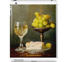 Gourmet snack, cheese grapes and white wine iPad Case/Skin