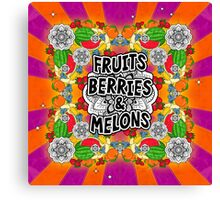 Fruits, Berries, & Melons Canvas Print