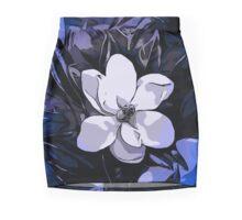 Beautiful Vibrant Blue White Abstract Flower  Mini Skirt