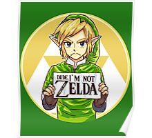 Dude, I'm Not ZELDA! Poster