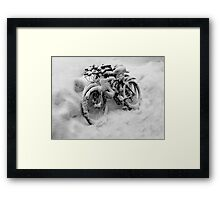 Three Bicycles in Black and White Framed Print