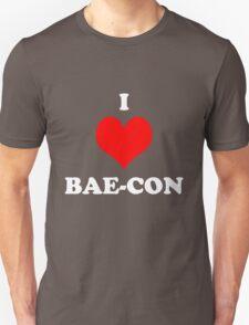 I Love Bae Bacon Heart Shirt T-Shirt