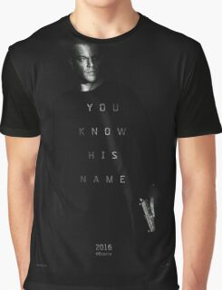 Bourne - You Know His Name Movie Poster Graphic T-Shirt