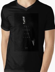 Bourne - You Know His Name Movie Poster Mens V-Neck T-Shirt