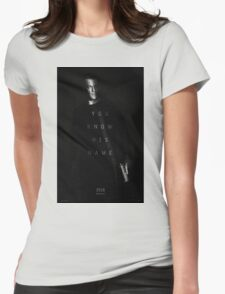 Bourne - You Know His Name Movie Poster Womens Fitted T-Shirt