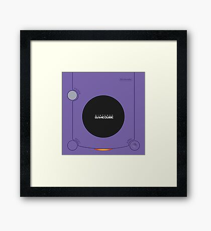 Nintendo gamecube Illustrations Framed Print