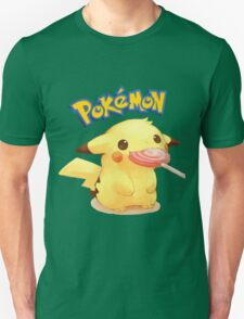 Cute pikachu with candy T-Shirt
