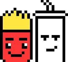 8 Bit Fries and Shake by derpfudge