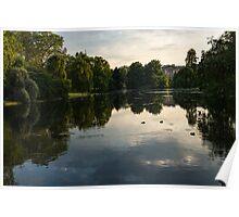 Buckingham Palace Mirror - St James's Park Lake in London, United Kingdom Poster