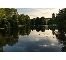 Buckingham Palace Mirror - St James's Park Lake in London, United Kingdom Photographic Print