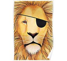 Pirate lion Poster