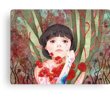 #8 Poppy Canvas Print