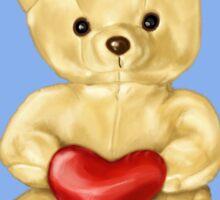 Blue Cute Teddy Bear Sticker