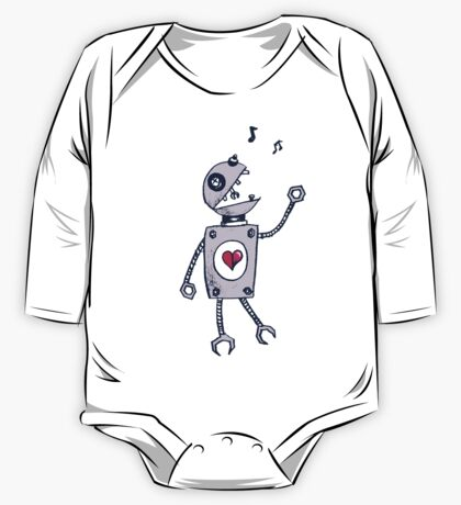 Happy Singing Robot One Piece - Long Sleeve