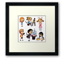Vector children set Framed Print