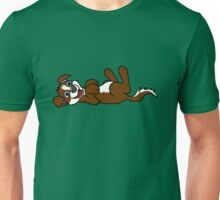 Brown Dog with Blaze - Roll Over Unisex T-Shirt