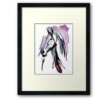 Pink horse Framed Print