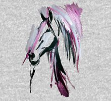Pink horse Womens Fitted T-Shirt