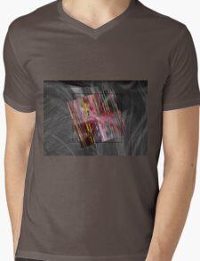 barcode square Mens V-Neck T-Shirt