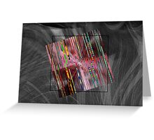 barcode square Greeting Card
