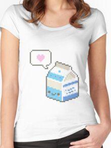 Kawaii milk carton Women's Fitted Scoop T-Shirt
