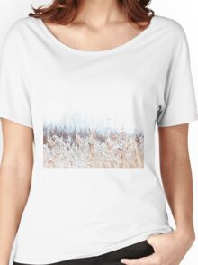 Winter landscape in the village Women's Relaxed Fit T-Shirt