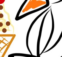 Penguin & ice cream Sticker