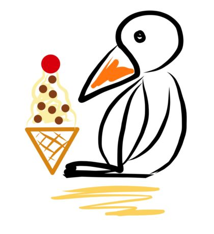 Penguin & ice cream Sticker