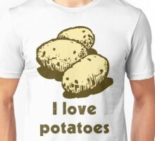 """I love potatoes"" Unisex T-Shirt"