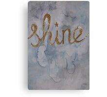 Shine - Glitter print Canvas Print