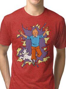 Tintin - Happy Tri-blend T-Shirt