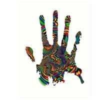 Psychedelic Touch Art Print