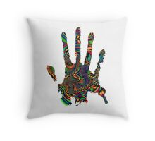 Psychedelic Touch Throw Pillow