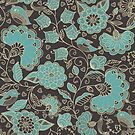 Hand drawn floral pattern by Nataliia-Ku