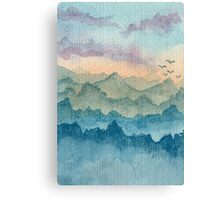 Deep within the mountains Canvas Print