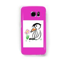 Penguin & flower Samsung Galaxy Case/Skin