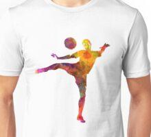 man soccer football player 07 Unisex T-Shirt