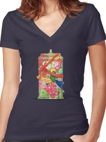 The best present in all of space and time Women's Fitted V-Neck T-Shirt