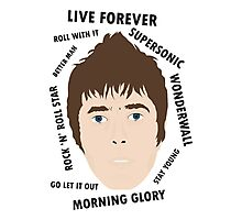 Liam Gallagher Oasis Beady Eye Fan Art Unofficial Live Forever  Photographic Print
