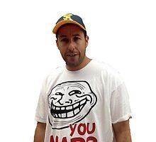 Adam Sandler wearing a u mad T-shrit  by koryo