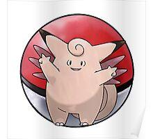 Clefable pokeball - pokemon Poster