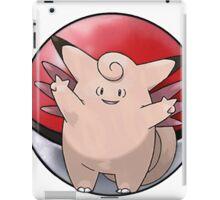 Clefable pokeball - pokemon iPad Case/Skin