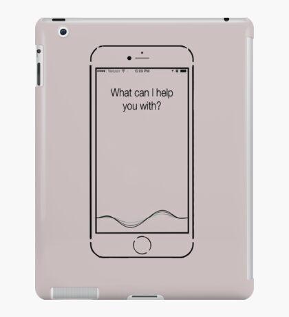 What can I help you with? - Siri iPad Case/Skin