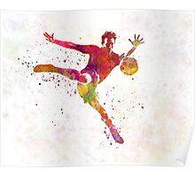 man soccer football player 08 Poster