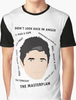 Noel Gallagher Oasis High Flying Birds Fan Art Unofficial  Graphic T-Shirt