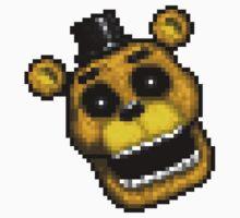 Adventure Golden Freddy - FNAF World - Pixel Art Kids Tee