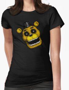 Adventure Golden Freddy - FNAF World - Pixel Art Womens Fitted T-Shirt