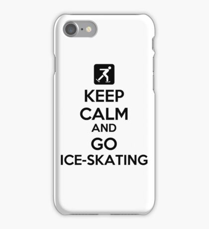 Keep Calm And Go Ice-Skating iPhone Case/Skin