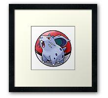 Nidoran (female) pokeball - pokemon Framed Print